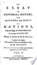 Essai sur les m  urs et l     esprit des nations