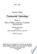 Continental Hydrology  Physics of water  atmospheric precipitation and evaporation