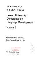 Proceedings of the     Annual Boston University Conference on Language Development