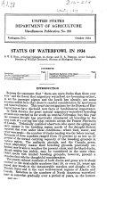 Status of Waterfowl in 1934