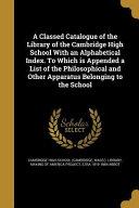Classed Catalogue Of The Lib O