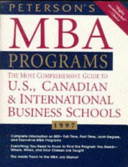 Peterson s Guide to MBA Programs