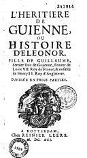 L'héritière de Guyenne, ou histoire d'Eléonore ebook