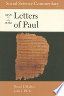 Social science Commentary on the Letters of Paul
