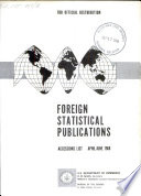 Foreign Statistical Publications Book