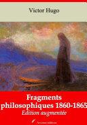 Fragments philosophiques 1860-1865 [Pdf/ePub] eBook