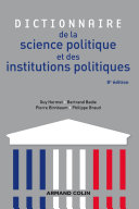 Pdf Dictionnaire de la science politique et des institutions politiques - 8e édition Telecharger