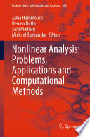 Nonlinear Analysis  Problems  Applications and Computational Methods