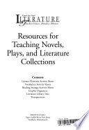 Resources for Teaching Novels, Plays, and Literature Collections
