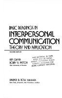 Basic Readings in Interpersonal Communication