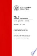 Title 40 Protection of Environment Part 63 (§§ 63.6580 to 63.8830) (Revised as of July 1, 2013)