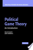 Political Game Theory  : An Introduction
