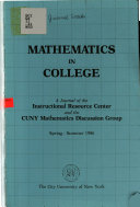 Mathematics in College