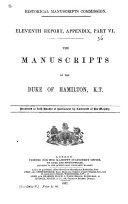 The Manuscripts of the Duke of Hamilton  K  T
