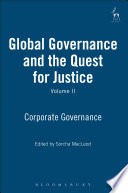 Global Governance and the Quest for Justice   Volume II