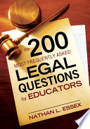 The 200 Most Frequently Asked Legal Questions for Educators Book