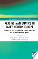 Reading Mathematics in Early Modern Europe