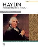 The Complete Piano Sonatas  Volume 1