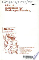 A List of Guidebooks for Handicapped Travelers