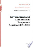 Government And Commission Responses Session 2009 10