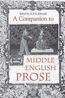 A Companion to Middle English Prose