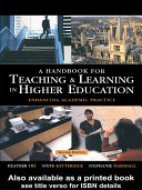Pdf A Handbook for Teaching and Learning in Higher Education