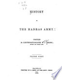 History of the Madras Army
