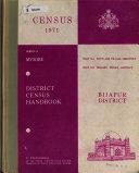 District Census Handbook  Series 14  Mysore  Bijapur