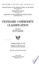 Standard Commodity Classification V 1