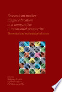 Research On Mother Tongue Education In A Comparative International Perspective
