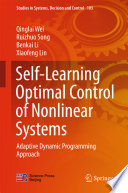 Self Learning Optimal Control of Nonlinear Systems Book