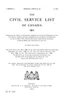 The Civil Service List of Canada ...