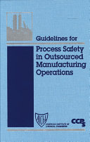 Pdf Guidelines for Process Safety in Outsourced Manufacturing Operations Telecharger