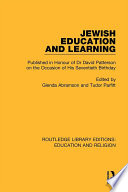 Jewish Education and Learning Book