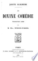 La Divine comédie : traduction libre par Max Durana-Fardel, Divina commedia. French. Durana-Fardel