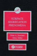 Surface Segregationphenomena