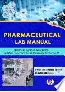 Pharmaceutical Lab Manual Book PDF