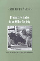 Productive Roles in an Older Society