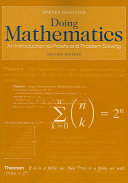 Doing Mathematics: An Introduction to Proofs and Problem Solving