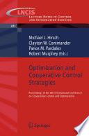 Optimization and Cooperative Control Strategies