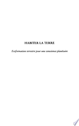 Download Habiter la terre Free Books - Bestseller Books 2018