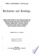 Two Hundred Popular Recitations and Readings