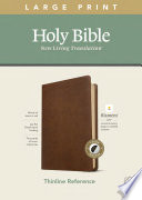 NLT Large Print Thinline Reference Bible  Filament Enabled Edition  Red Letter  Leatherlike  Rustic Brown  Indexed