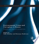 Environmental Crime and Corruption in Russia Book