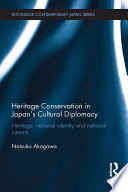Heritage Conservation and Japan s Cultural Diplomacy