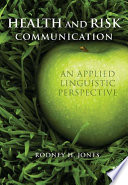 Health and Risk Communication Book