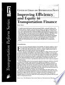 Improving Efficiency and Equity in Transportation Finance