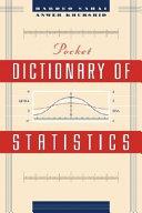 Pocket Dictionary of Statistics