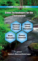 Green Technologies for the Environment Book