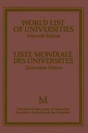 Pdf World List of Universities / Liste Mondiale des Universites Telecharger